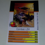 Action Man Power Cards 1996 Combat LSV Trading card @sold@